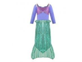 Kostým mořské panny, zeleno-fialový s flitry