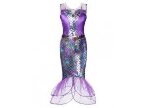 Fialový šupinatý kostým mořské panny