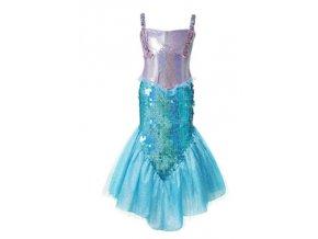 Stříbrno-modrý kostým mořské panny