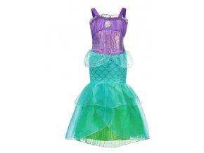 Fialovo zelený kostým mořské panny