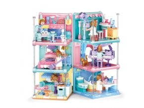 Kreativní stavebnice domu s figurkami
