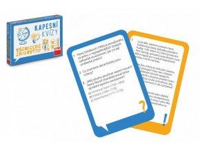 Kapesní kvízy Všeobecné znalosti cestovní společenská hra v krabičce 13,5x10x2cm