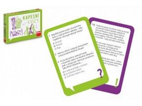 Kapesní kvízy Kolem světa cestovní společenská hra v krabičce 13,5x10x2cm