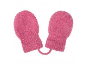Dětské zimní rukavičky New Baby růžové, vel. 56 (0-3m)