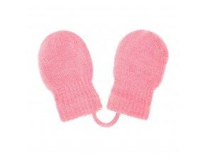 Dětské zimní rukavičky New Baby světle růžové, vel. 56 (0-3m)