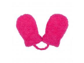 Dětské zimní rukavičky New Baby se šňůrkou růžové, vel. 62 (3-6m)