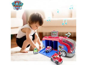 Paw Patrol Middle Bus Observatory Figure Playset Toys Paw Patrol Freewheeling Bus Patrulla Canina with Music 1
