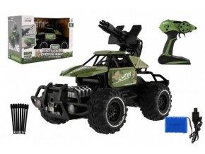 Auto RC buggy vojenské 35cm plast 2,4GHz na baterie v krabici 45x31x22cm