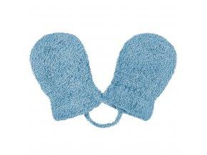 Dětské zimní rukavičky New Baby se šňůrkou modré, vel. 62 (3-6m)