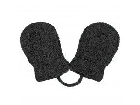 Dětské zimní rukavičky New Baby se šňůrkou černé, vel. 62 (3-6m)