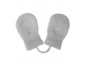 Dětské zimní rukavičky New Baby se šňůrkou světle šedé, vel. 56 (0-3m)