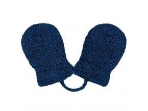 Dětské zimní rukavičky New Baby se šňůrkou tmavě modré, vel. 62 (3-6m)