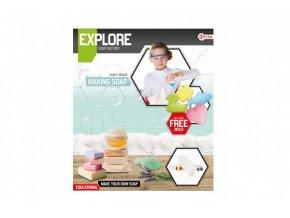 Výroba mýdla vědecká hra s formičkami v krabici 27x31x5cm