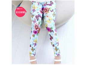 New Style Spring Autumn Children Leggings Flower Butterfly girls pants kids legging Beige