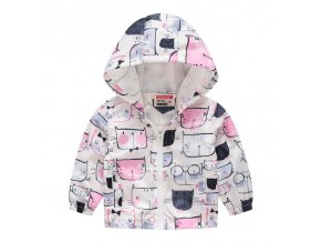 New Brand Kids Clothes Boys Girls Jackets Children Hooded Windbreaker Infant Waterproof Hoodies Toddler Baby Coat White Cartoon