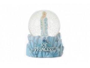 Sněhová koule/Těžítko Ledová princezna 10x9cm v krabičce 11x13x11cm