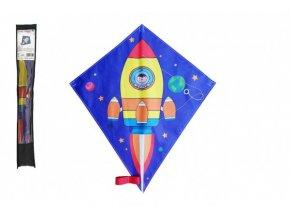 Drak létající nylon 70 x 60 cm kosmická raketa