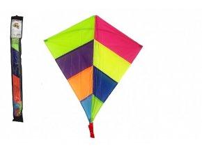Drak létající nylon 88 x 81 cm barevný