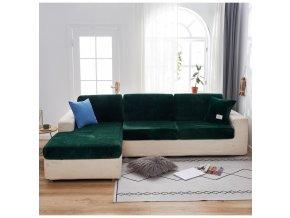 Sametové potahy na sedáky a opěradla pohovek + polštáře