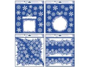 Okenní fólie s glitry, Vánoční motivy z vloček