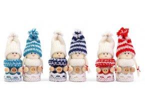 Vánoční dekorace Textilní figurky