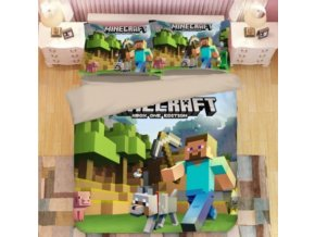 3-dílné ložní povlečení Minecraft