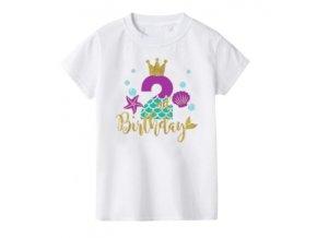 Bílé narozeninové tričko