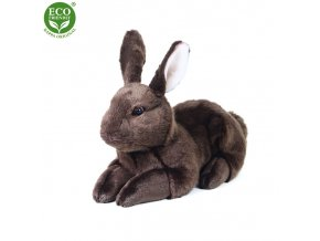 ECO-FRIENDLY plyšáci - Plyšový králík hnědý ležící, 36 cm