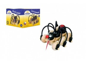 Černý pavouk tahací dřevo 11cm v krabici