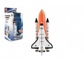 Raketoplán kov 20cm na baterie se zvukem a světlem v krabici 14x29x10cm
