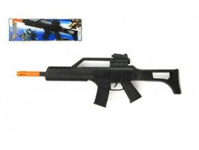 Pistole/Samopal jiskřící plast 53cm na setrvačník na kartě