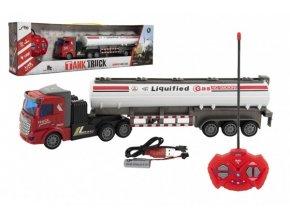 Auto/Kamion RC s cisternou plast 36cm 27mHz na baterie + dobíjecí pack se světlem v krab. 51x15x9cm