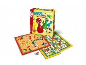 Maxi Člověče, nezlob se/Velké putování společenská hra dřevěné figurky v krabici 30x30x8cm