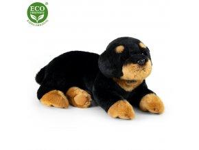 Plyšový pes rotvajler ležící 38 cm ECO-FRIENDLY