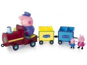 Vláček Prasátko Peppa s 3 figurkami