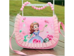 2019 New arrivals girl cute mini messenger bag fashion children princess pu handbag kids sofia tote 4