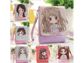 2018 Hot Sale Cute Cartoon Crossbody Bags Travel Shoulder Bag For Girls Phone Bag PU Handbag 0
