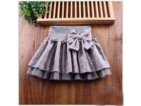 Cute Bowknots Child Skirt Kids Pleated Wool Blend Skirt Knited dot print Toddlers girls clothes Christmas 0