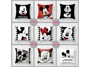 Unstuffed 40 40cm Mickey Mouse Pillow Minnie Mouse Pillow Case Mickey and Minnie Plush Pillow Cartoon 0
