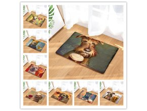 New Doormat Carpets Personality oil painting dog Print Mats Floor Kitchen Bathroom Rugs 40X60or50x80cm 0