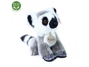 Plyšový lemur sedící 18 cm ECO-FRIENDLY