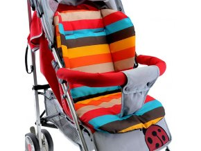 Baby Stroller Seat Cushion Pushchair High Chair Pram Car Colorful Soft Mattresses Carriages Seat Pad Stroller 1
