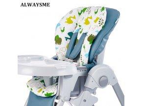 ALWAYSME New Baby Kids Highchair Cushion Pad Mat Booster Seats Cushion Pad Mat Feeding Chair Cushion 0