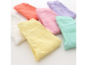 High Quality Spring Summer Fashion Children Pants Candy Color Pencil Girls Pants 0