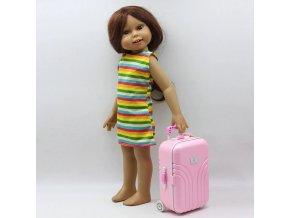 Cestovní kufr na kolečkách pro panenku American girl a BABY Born 43 cm