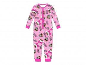 Dívčí pyžamo/overal LOL Surprise, růžový