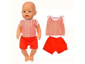 Dvoudílné sety oblečků pro American girl a Baby Born 43-45 cm
