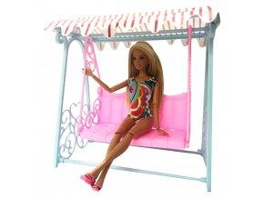 Zahradní houpací lavice pro panenku Barbie