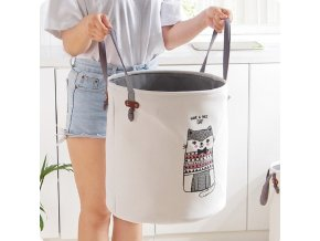 Cartoon Fabric Laundry Basket Bag Large Folding Dirty Clothes Sundries Toys Storage Baskets Box Home Decoration 0