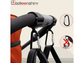 BalleenShiny1pc Baby Stroller Accessories Multi Purpose Baby Stroller Hook Shopping Pram Hook Props Hanger Metal Convenient 0